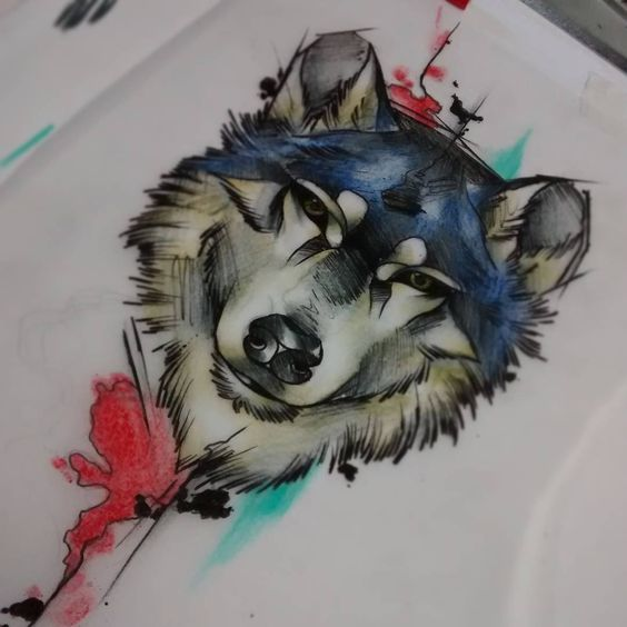 wolf tattoo design wolf tattoos and tattoo designs on pinterest. Black Bedroom Furniture Sets. Home Design Ideas