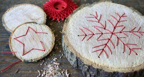 Basteln and handgefertigt on pinterest - Baumscheiben basteln ...