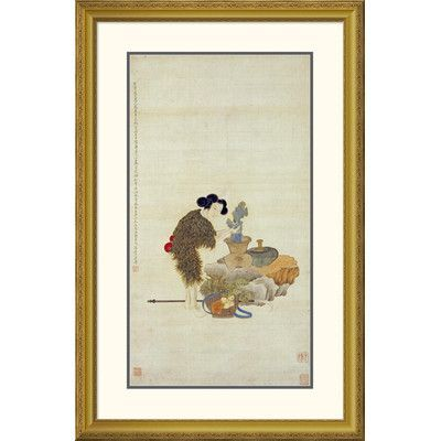 Global Gallery 'Longevity' by Gia Qi Framed Graphic Art Size: