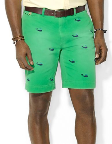 POLO RALPH LAUREN Classic-Fit Greenwich Embroidered Chino Short