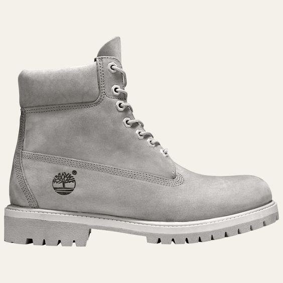NWOB Men's TIMBERLAND 6-inch Premium Grey Waterproof Work Boots Sizes 9.5, 10.5M…