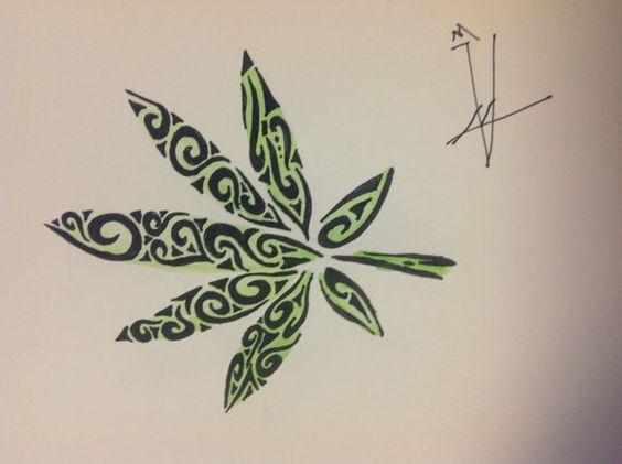 tribal pot leaf 10 176 cannabis fashion 176