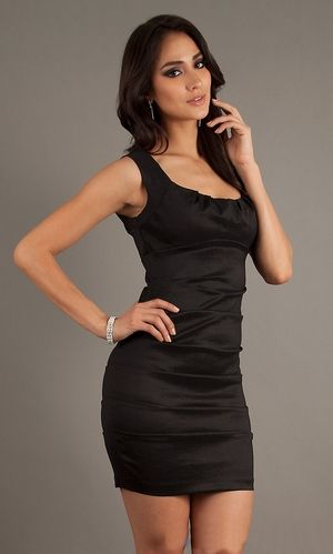 Images of Tight Short Black Dress - Reikian
