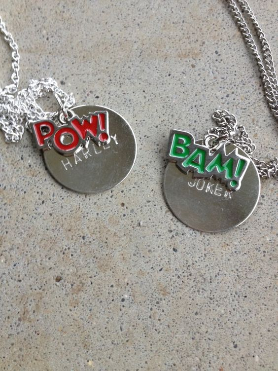 Joker and harley queen my inner geek pinterest for Harley quinn and joker jewelry