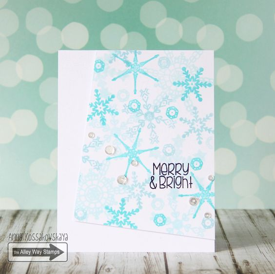 The Alley Way Stamps, TAWS, cards, clear stamps, #TAWS, Anna kossakovskaya, Snow Daze, All Wrapped UP