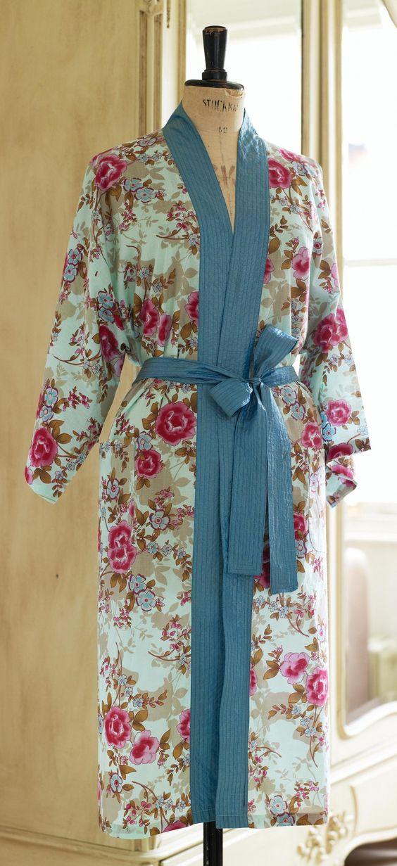 Floral Oriental Kimono Robe