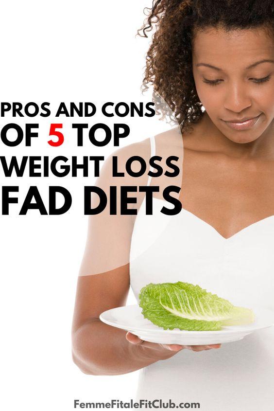 Pros and Cons of 5 Top Weight Loss Fad Diets #atkins #zonediet #nutrisystem #jenniecraig #paleo #vegan #mediterraneandiet