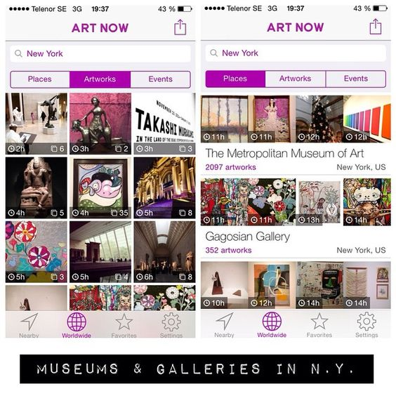 The Art Now app scans Instagram for artwork and makes it all neat and tidy. Use it to discover new art exhibitions. Very useful to quickly get a grip on all the galleries in Chelsea. #museum #art #themet #met #moma #gagosiangallery #gagosian #takashimurakami #gustavklimt #metropolitanmuseum #chrisofili #nightandday #newmuseum #claudemonet #brucenauman #neon #marilynmonroe