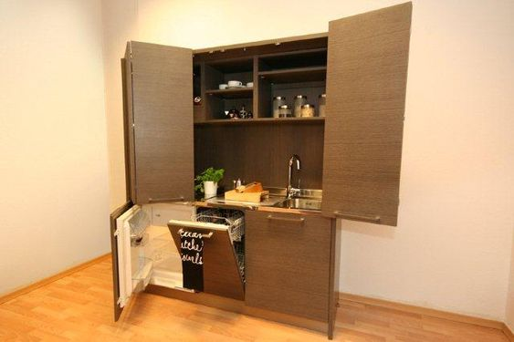 Kuchnia W Szafie Czyli Minikuchnia Male Mieszkanie Mini Kitchen Small Spaces Liquor Cabinet