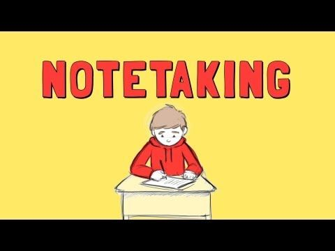 This is a good video on HOW to take notes based on the Cornell note taking system. It's made by a biology teacher, but the system can be used for any class when taking notes on class, reading for ho swore or watching a video that you need to take notes on.