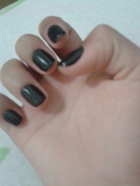 Unhas esmalte black da colorama