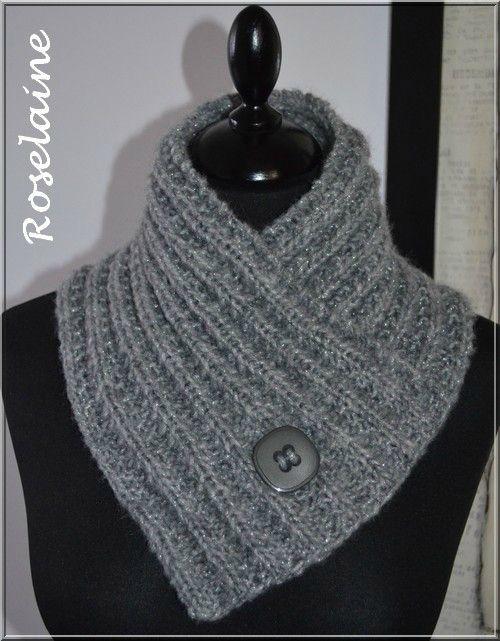tricoter un tour de cou facile
