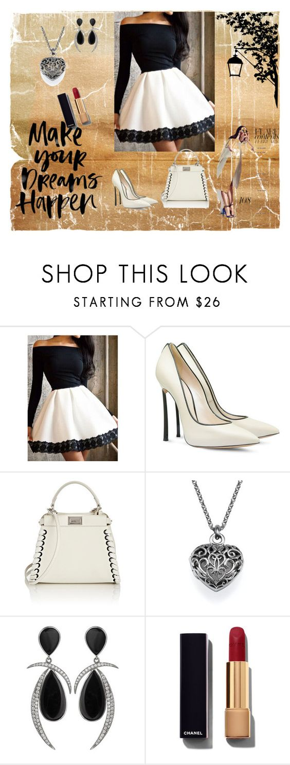 """""""Untitled #31"""" by melisa-fehric ❤ liked on Polyvore featuring Casadei, Fendi, Jorge Adeler, Chanel, women's clothing, women's fashion, women, female, woman and misses"""