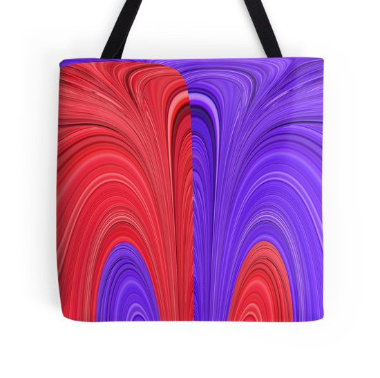 Red and Purple Coming Together Bold Abstract Art Design by Adri of Minding My Visions www.mindingmyvisions.com artwork on tote bags, throw pillows, cellphone cases, laptop covers, clothing, duvet covers, bedding, stickers and more.  https://www.facebook.com/mindingmyvisions