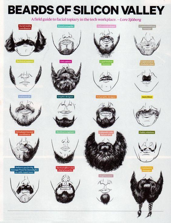 Barbe de la Silicon Valley #mode #coiffure #barbe #barbu #geek #beards #silicon #valley #hightech
