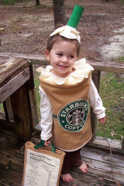 Starbucks drink costume! I will wear this next year! Yes I love it that much!!