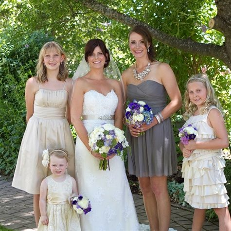 Mismatched Bridal Party Looks
