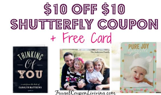 Shutterfly Code | $10 off $10 Coupon + Free Card