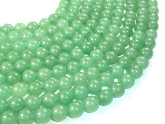 Green Aventurine Beads Round 10 mm 15.5 Inch Full by BeadXpert