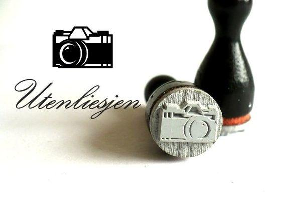 Kamera Holzstempel Fotoapparat von Utenliesjen auf DaWanda.com