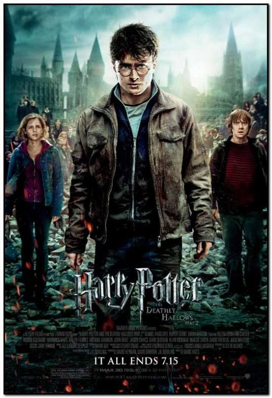 Harry Potter Deathly Hallows Part 2 Final Style Original 27x40 Movie Poster Deathly Hallows Part 2 Harry Potter Movies Deathly Hallows