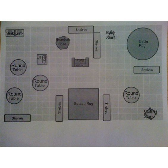Floor plans teaching and preschool classroom on pinterest for Online floor plan tool