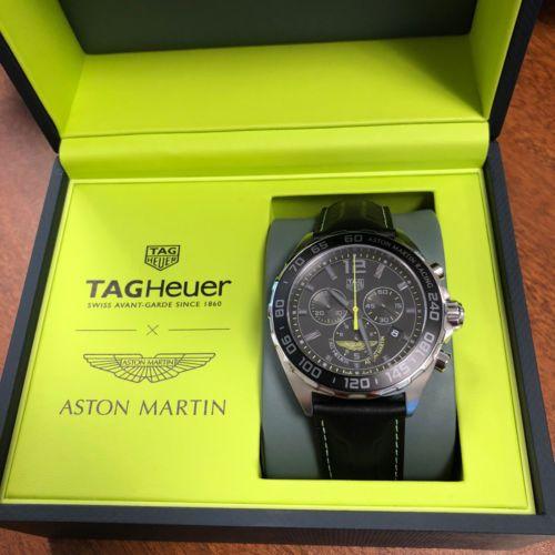 Tag Heuer Formula 1 Aston Martin Relogio Edicao Especial 43 Mm Caz101p Fc8245 Novo Tag Heuer Tag Heuer Formula Tag Heuer Watch