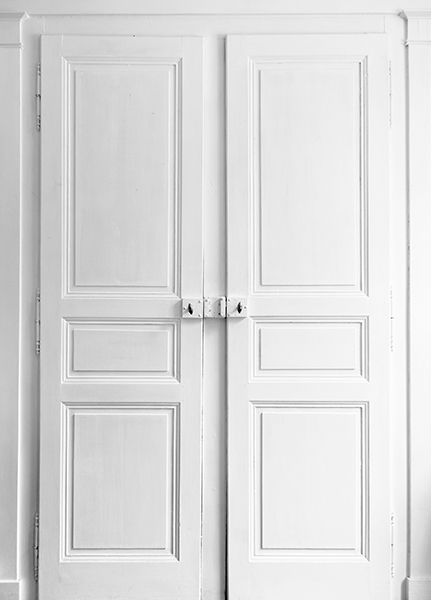 Papier peint trompe l 39 oeil double porte portes placards for Double porte