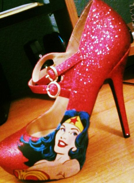 Wonder Woman by TheGeekHouse on Etsy, $65.00.  How fabulous are these?!?!