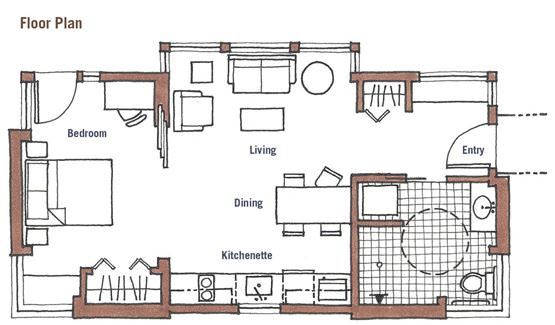 Small Space Accessibility Small Accessible Homes Accessible House Small House Plans House Floor Plans