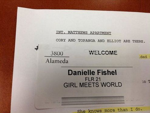 "disney channel girl meets world script In ""girl meets world,"" disney channel tries disney hopes new (and nostalgic) formula the cast had gathered around a table to read a new script."