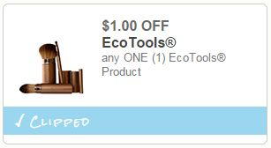 $1.00/1 EcoTools is Back – FREE EcoPouf   Overage at Walmart!