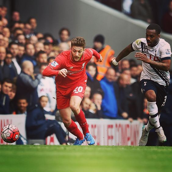 Adam Lallana in action for #LFC against Spurs #WeAreLiverpool #TOTLIV #KloppLFC