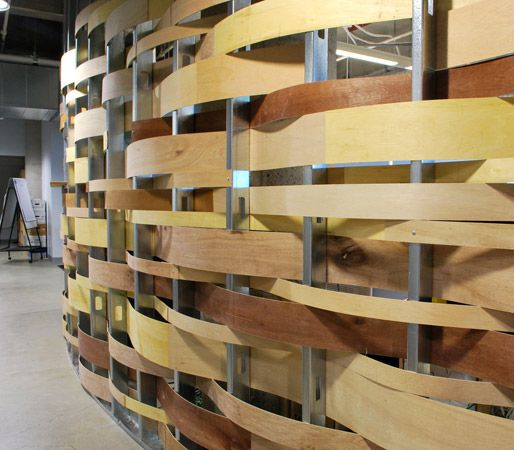 Wood walls woods and search on pinterest - Woven wood wall panels ...