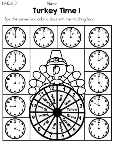 math worksheet : kindergarten math worksheets turkey time and kindergarten math on  : Thanksgiving Math Worksheets Kindergarten