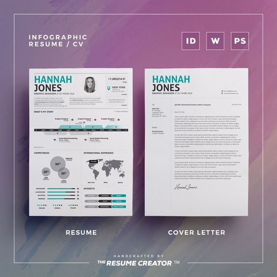 Infographic Resume \/ Cv Vol 2 by TheResumeCreator on - infographic resume creator