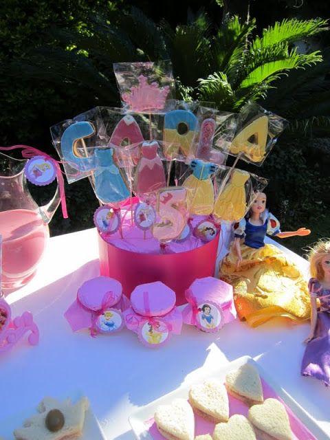 centro galletas vestidos princesas Disney