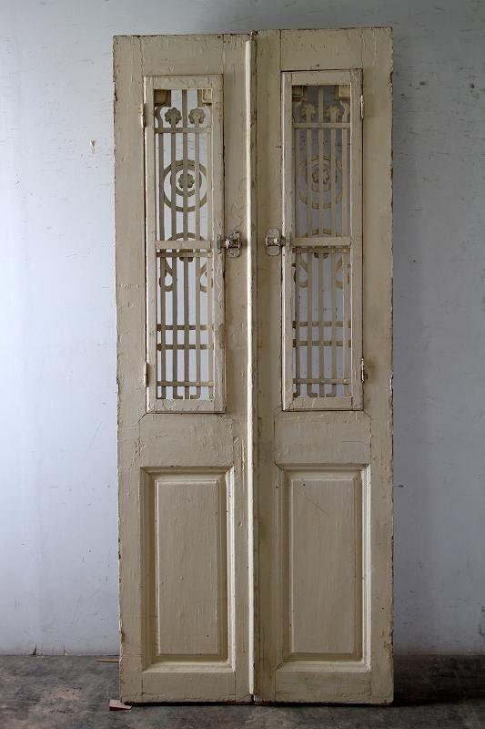 観音開き アイアン飾り 玄関ドア フランス アンティークドア 直輸入