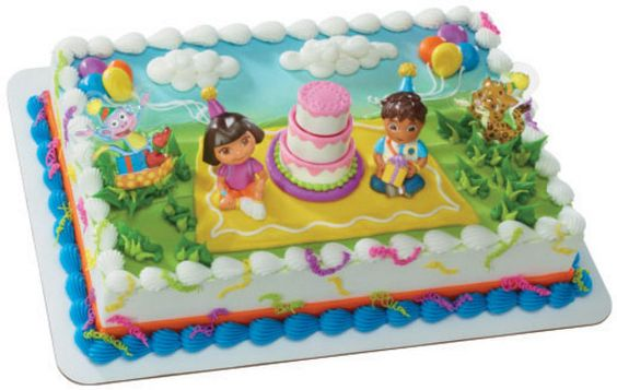 DORA DIEGO BOOTS Birthday Party Cake Decoration Supplies