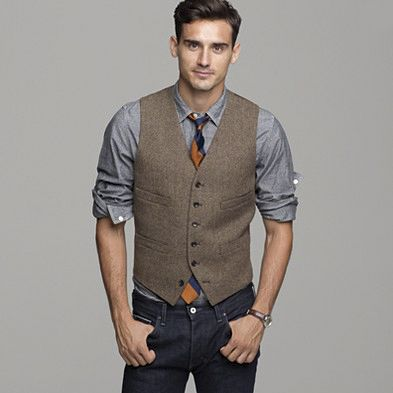 Men's Fashion - This outfit is a perfect combo for a fall engagement sesh!:
