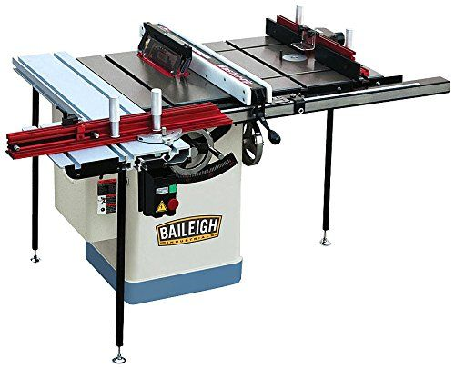 Baileigh Ts 1020ws Pro Cabinet Table Saw Full Working Station Single Phase 3 Hp 220v 10 Blade Best Price Daily Update Price Comparison Review Cabinet Table Saw Table Saw Sliding Table