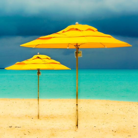 Coco Beach Abaco Bahamas: Yellow Umbrellas, Bahamas Umbrellas, Colored Umbrellas, Beach Umbrellas, Abacos Bahamas, Beach Abacos