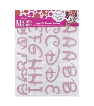 disney minnie mouse alphabet iron on transfer letters