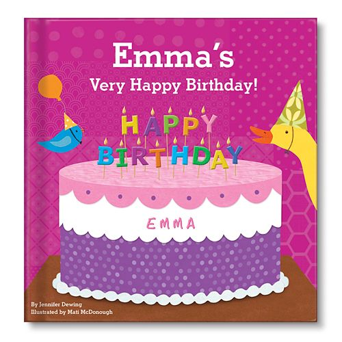 A gift idea for a birthday - a personalized birthday book, which features their name from @I See Me! Personalized Children's Books! #giftidea #birthday