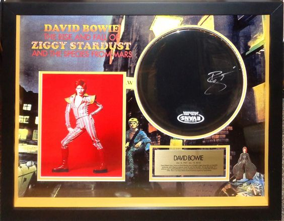 Antiquities LV - David Bowie Signed Drumhead, $1,995.00…