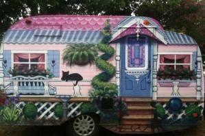adorable cottage camper! Super cute idea