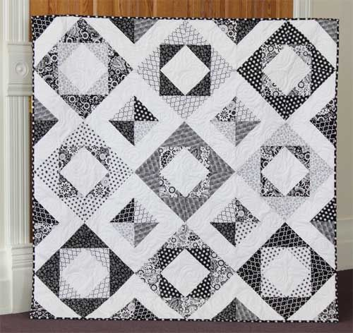 Free Quilt Pattern and Tutorial - Evening Blooms Quilt