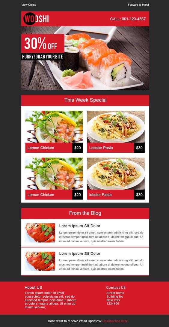 restaurant newsletter template images best cafe and restaurant
