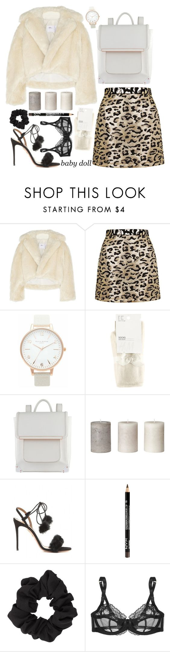"""""""Untitled #141"""" by francescas-closet ❤ liked on Polyvore featuring Toga, Topshop, Olivia Burton, H&M, ALDO, Aquazzura, Miss Selfridge, L'Agent By Agent Provocateur, women's clothing and women's fashion"""