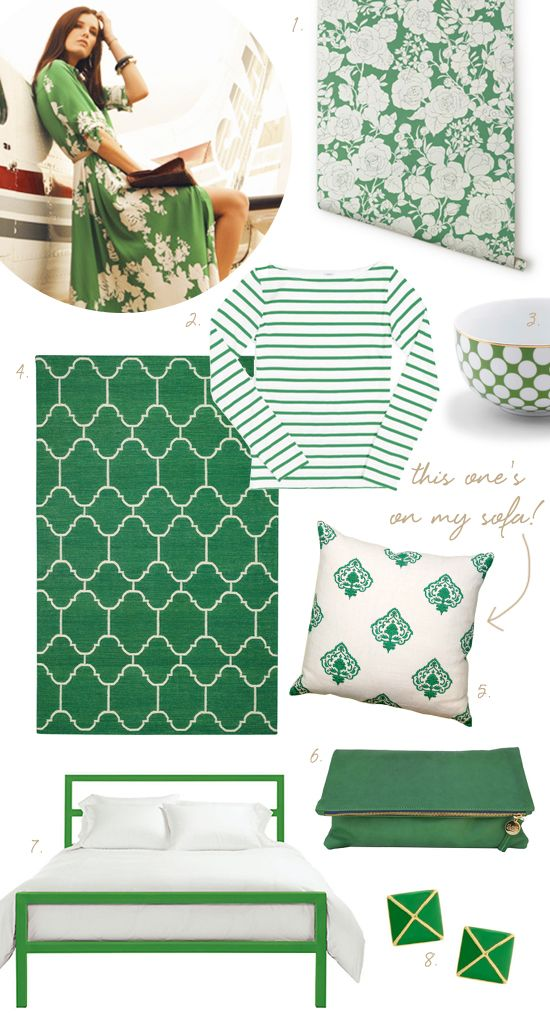 coco+kelley white and green palette shopping: